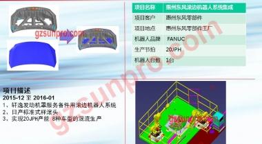 惠州东风滚边机器人系统集成