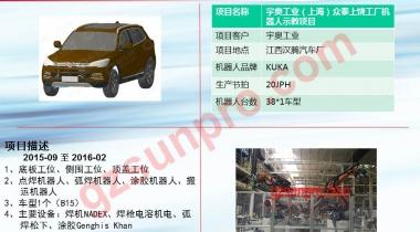 宇奥工业(上海)众泰上饶工厂机器人示教项目