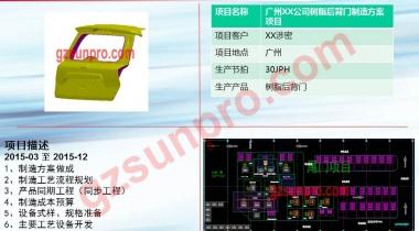 广州XX公司树脂后背门制造方案项目