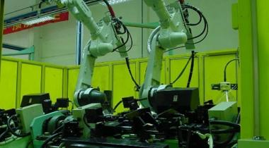 广州爱机T9A门板加强筋弧焊机器人工作站调试及示教